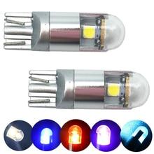 10Pcs T10 194 168 W5W 3030 3 SMD Car LED T10 3 LED Car License Plate highlight Light Bulb core car styling light parking reading