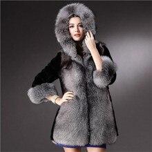 2016Winter Women Fur Coat Europe America Hot Style Fashion Temperament High-end Imitation Fox Fur Rabbit Wool Coat Warm Fur Coat
