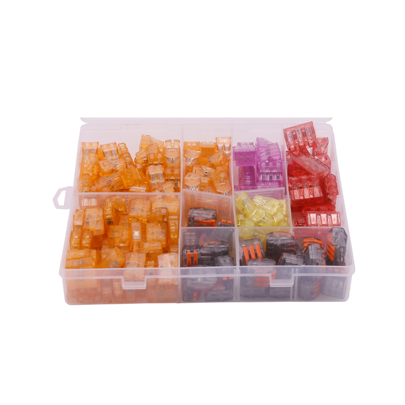 210Pcs/Box Assorted Connectors Terminals Seven in One Set Insulation Shell Screw Terminals cookery postcards 100 cookbook covers in one box