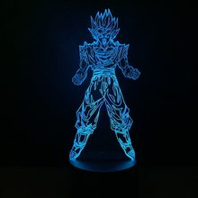 Desenhos animados Quadrinhos Anime Dragon Ball Goku Saiyan 3D Lâmpada Night Light Kid Toy USB LED Multicolor Presente Decorativo candeeiro de Mesa de Iluminação lava(China)
