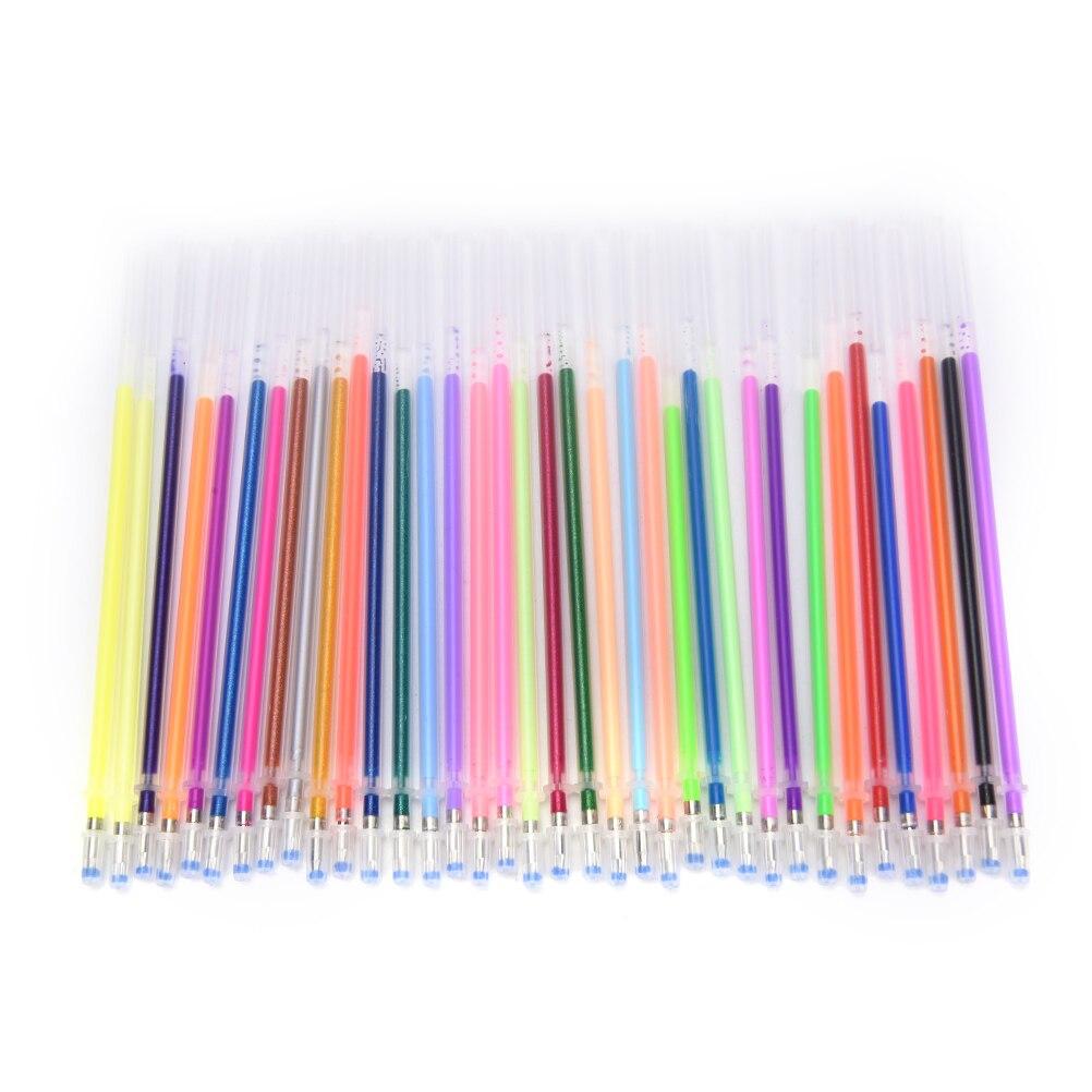 1Box/36 Colors Highlight Refill Color Full Shinning Refill Painting Pen Flash Ballpint Gel Pen
