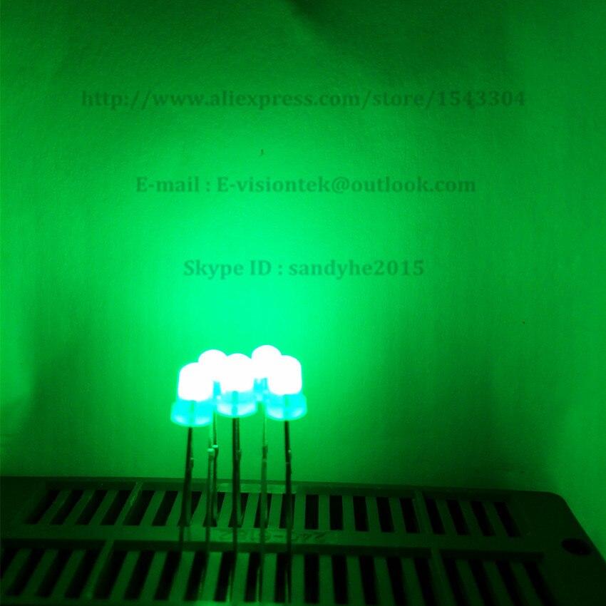 100pcs 11-2100 High Brightness 5mm Yellow 2 Pin LED led Light