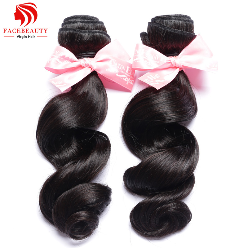 India Virgin Hair Loose Wave 2 Bundles Unprocessed Loose -9383