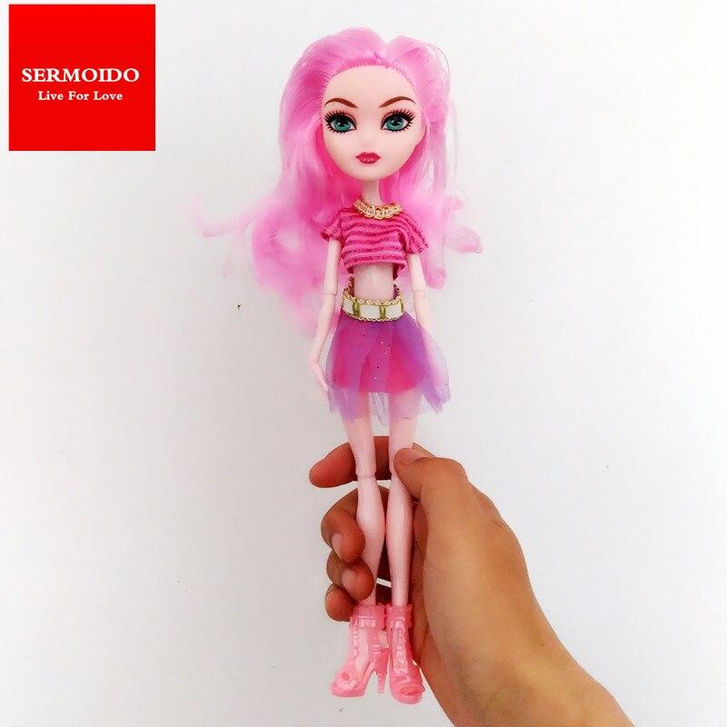 SERMOIDO Новое Прибытие Суставов Монстров Высоких Куклы, оригинальные Куклы, мода Девушка Игрушка Куклы Младенца, Monsters Hight Игрушки D68