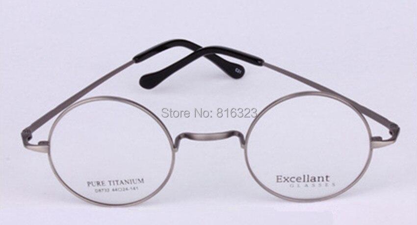 4aea1afcd876c Luxe titane 44mm Vintage rond lunettes cadre homme femmes lunettes verre  dans Lunettes Cadres de Vêtements Accessoires sur AliExpress.com