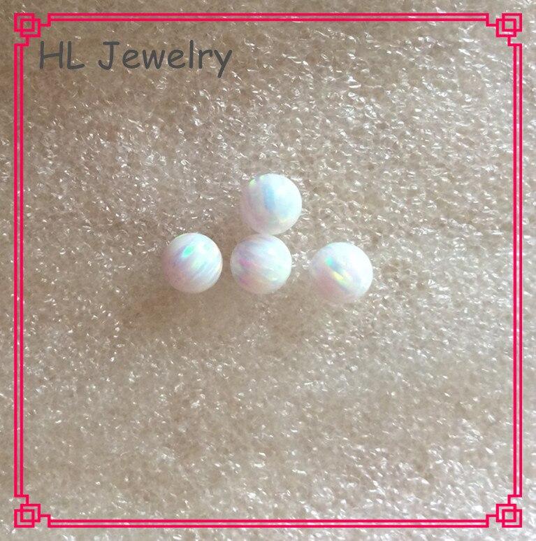 100 PCS/Lot Synthétique Feu Blanc/Bleu Opale Perles 5 MM Cabochon perles rondes Opale-in Perles from Bijoux et Accessoires    3