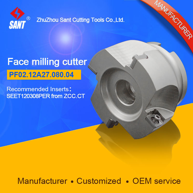 Mached insert SEET120308PER Indexable milling cutter milling tools facing cutter cutting FMP02-080-A27-SE12-04/PF02.12A27.080.04 hot selling indexable profile milling cutter bmr01 020 xp20 s tool holder matched for carbide insert spmt060304 zdet08t2cyr10