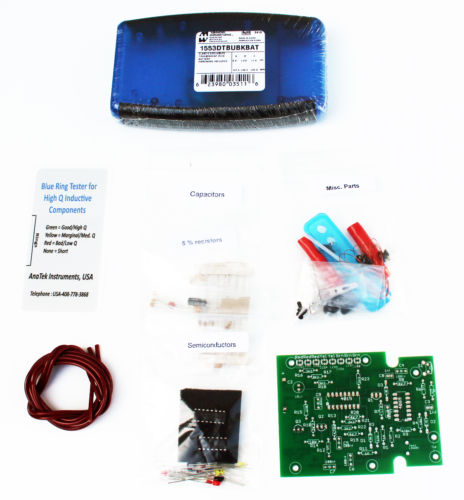 """AnaTek /""""ESR/"""" and /""""Blue Ring Q/"""" Component Testers 2 Complete Kits for Assembly"""