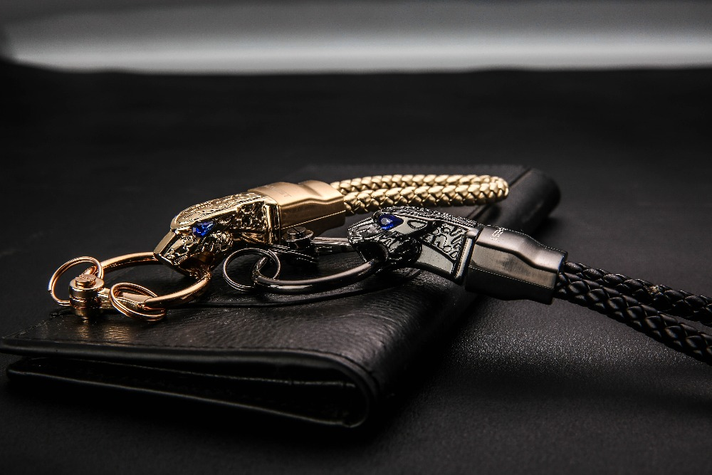 HTB142wFzY5YBuNjSspoq6zeNFXaT - New High Grade Men Key Chain Key Ring Rhinestones Car Keychains Holder Jewelry Bag Pendant Business Gift Genuine Leather K1572