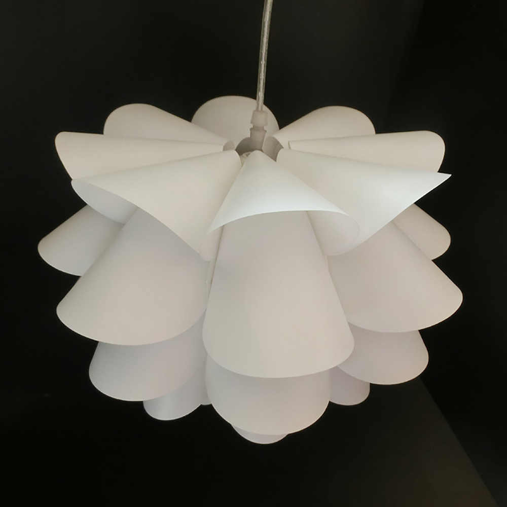 Five-Layer Lotus Lampshade Chandelier Desk Lamp PP Lampshade 1.5 Thick Bracket Small Size Home Decoration Craft