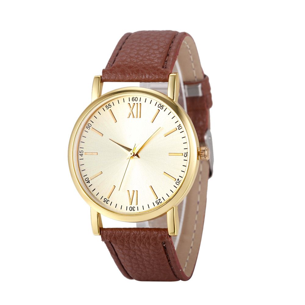 Reloj Mujer Watch Fashion Women Watches Roman Number Ladies Female Clock Leather Band Analog Quartz Wristwatch Relogio Feminino vansvar follow your dreams women quartz watches reloj mujer relogio feminino leather strap wristwatch new dress watch clock