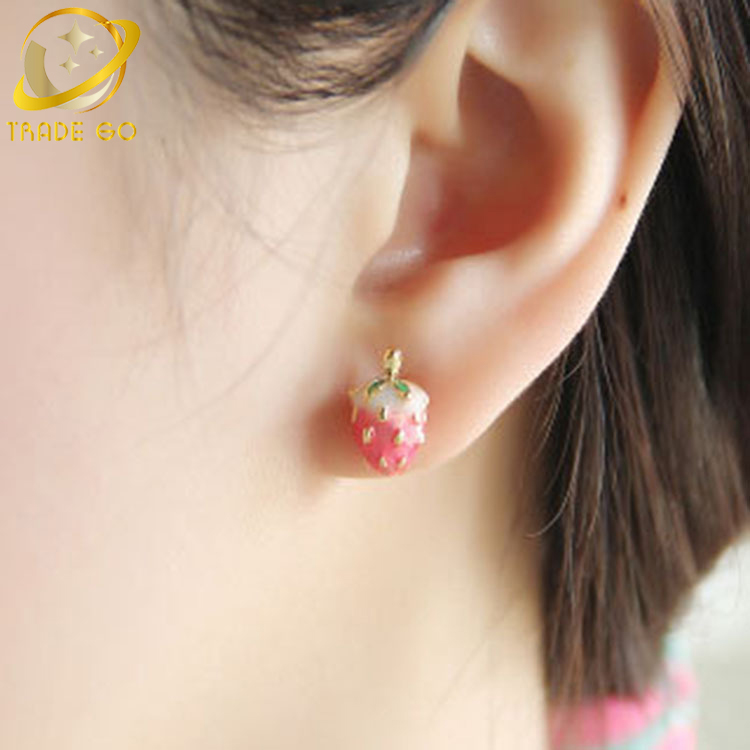 women little behoney for item s funny lemon stud banana from cute accessories fruit pineapple girls earrings tiny in jewelry strawberry woman