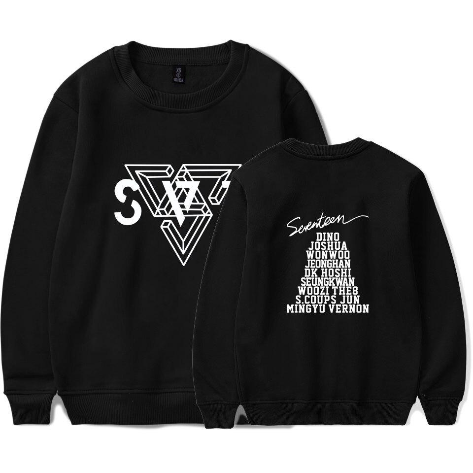 LUCKYFRIDAYF 2018 SEVENTEEN Pop Warm Spring Sweatshirt Hoodies MenWomen Long Sleeve Tracksuit Hip Hop Men Clothes Plus Size 4XL