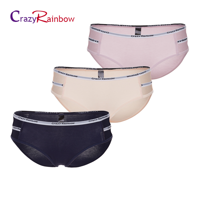 3pieces a lot! Cotton Panties Womens Low Waist Cotton Briefs Seamless Underwear sexy lace underwear women