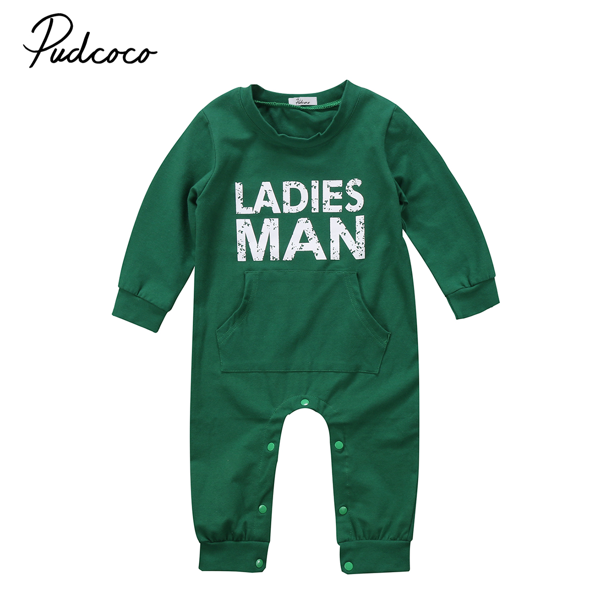 Pudcoco 2017 Baby Kids Boy Clothes Long Sleeve Romper Jumpsuit Outfits Fashion Autumn Warm Baby boy Cute Romper