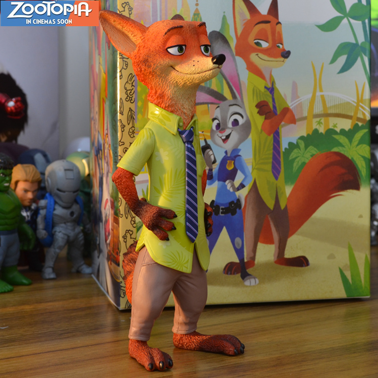 Hot Sale Animation Movie Zootopia Nick Wilde Fox Stand Cool 7.5 Figure nickel bay nick
