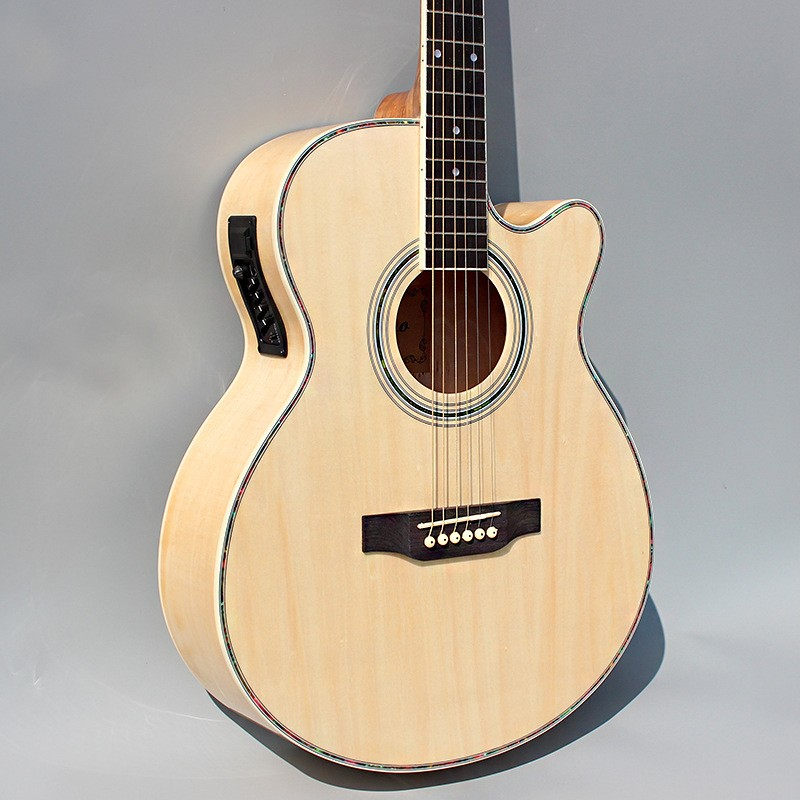 Wood color guitars 40-45 40 inch high quality Electric Acoustic Guitar Rosewood Fingerboard guitarra with guitar strings new arrival high quality metal chrome plated color sg g400 electric guitar rosewood fingerboard electric guitar free shipping