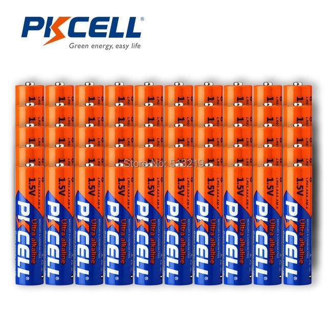 100Pcs PKCELL 1.5V LR03 AAA Batteria Alcalina Uso Singola Batteria Per La macchina fotografica, calcolatrice, sveglia, mouse, telecomando