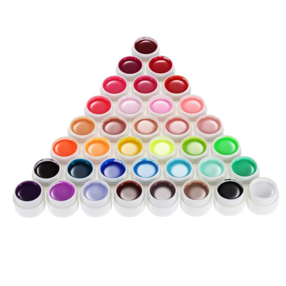 Professional Nail Art 36 Colors Nail Gel 6-8ml Glitter UV Lamp Nail Polish Gel Acrylic Builder Glue Solid Set Long Lasting Nail nail art uv gel nail builder tips glue multicolored 12 pcs
