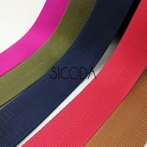 Image 2 - SICODA Cinta adhesiva reforzada de nailon resistente, 10 yardas, 38mm de ancho, cinta de espiguilla de nailon de 1,0mm de grosor, bolso de mano con equipaje y cinturón