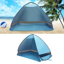 Portable 2 Persons Outdoor Automatic Pop up Instant Portable Beach Tent UV Protective Folding Shade Sun Shelter Drop Shipping
