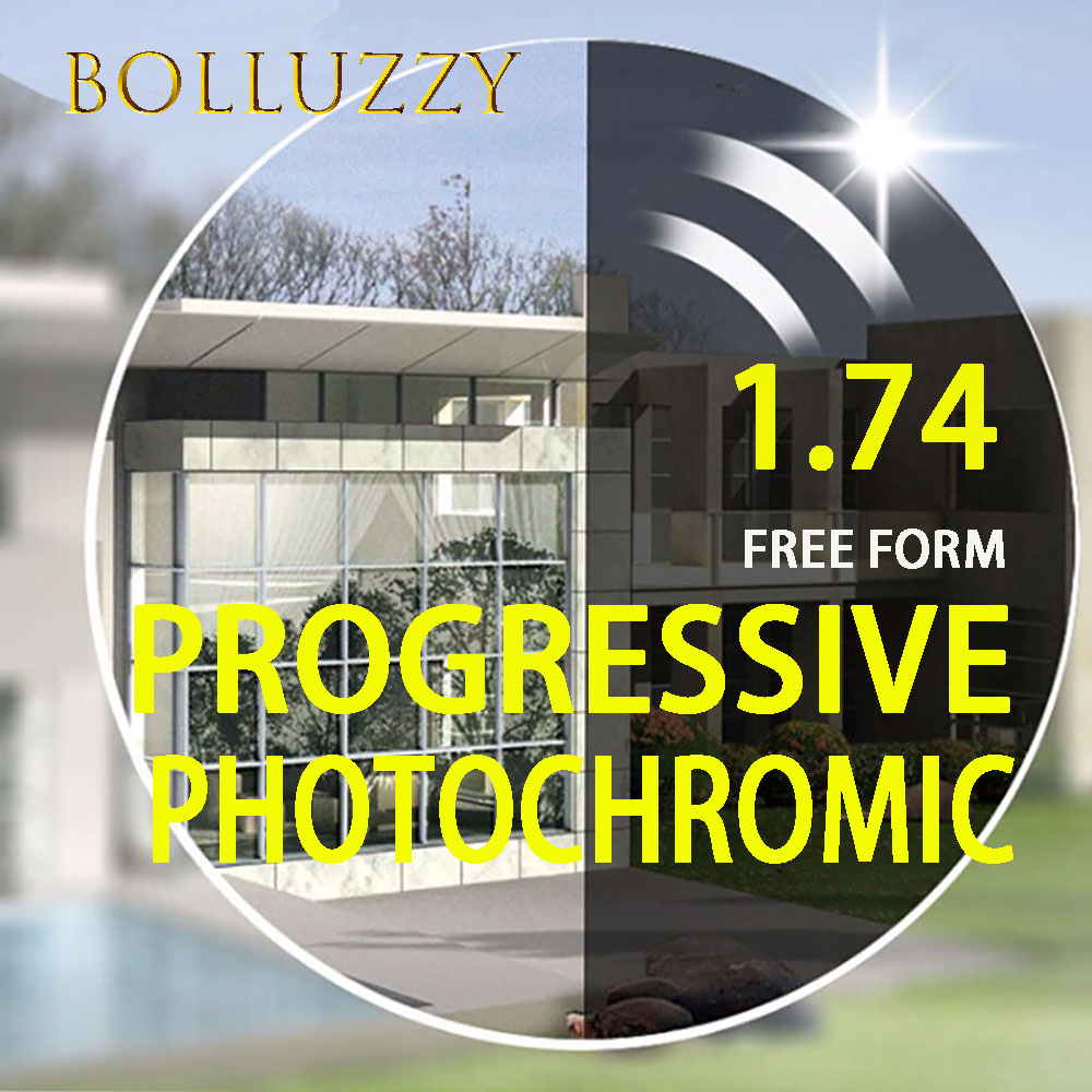 1.74 asp index high quality HMC photochromic interior progressive lenses progressive lenses super hard reading computer lenses