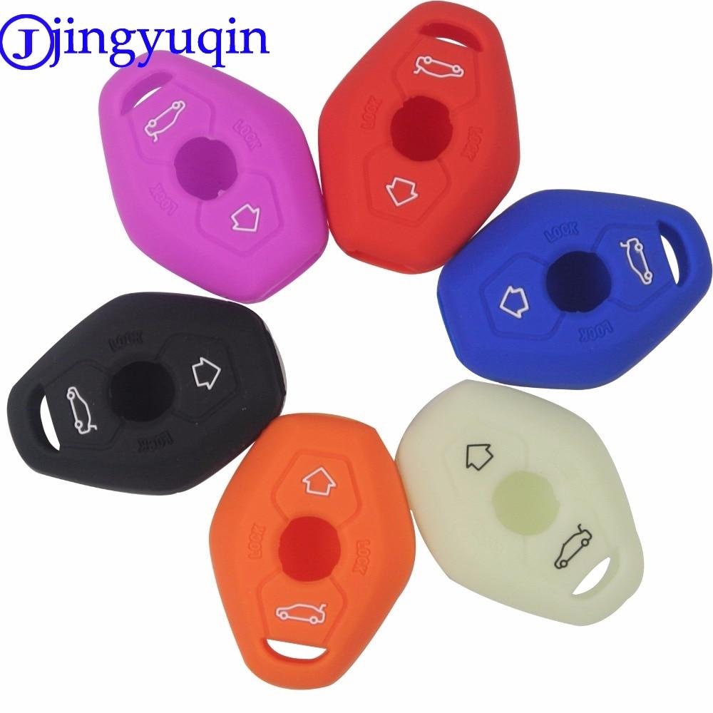jingyuqin 3B Remote Silicone Key Case Car Styling Cover For BMW X3 X5 Z3 Z4 3 5 7 Series E38 E39 E46 E83 FOB Set Protective protective matte silicone case for iphone 5 5s dark blue white