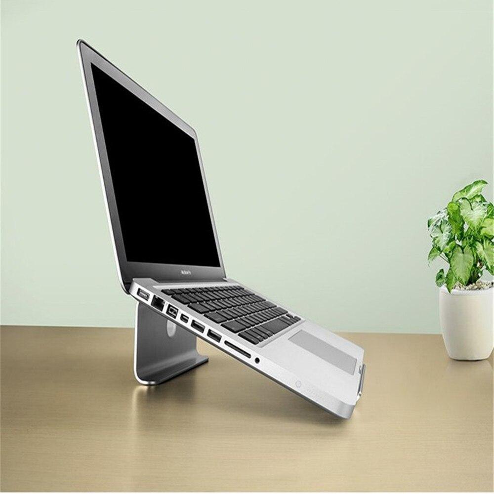 Clever Aluminium Legierung Laptop Stand Für 7 Zu 14 Zoll Notebook Tablet Anti-slip Computer Halter Mit Kabel Loch Für Macbook Air Dell Hp Sparen Sie 50-70%