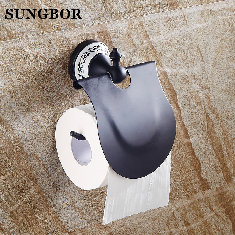 High Quality Black Oil Brushed Toilet Paper Holder Brass Paper Roll Holder,Tissue Holder,Bathroom Accessories Products SY-4808H