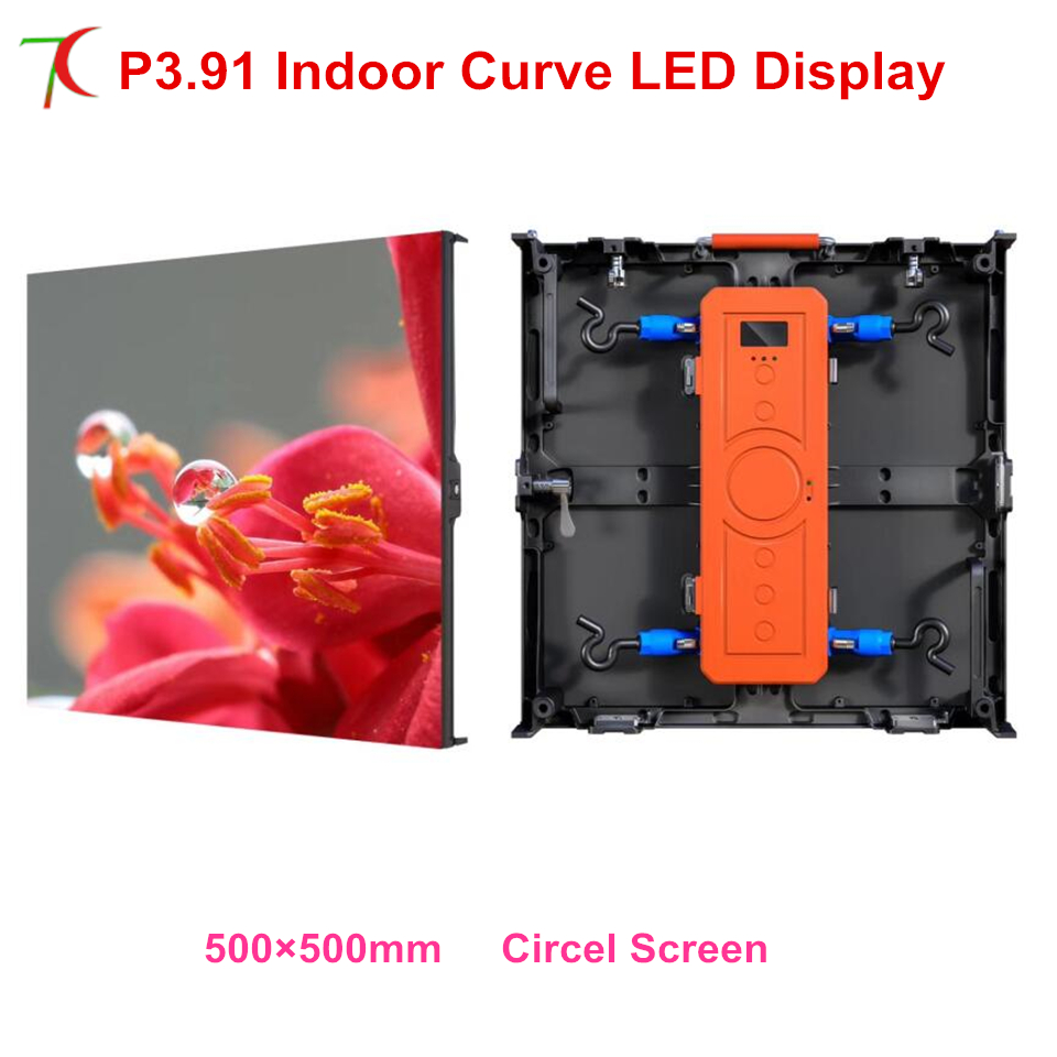 LED Manufacturer Sales Curve Screen P3.91 Indoor Full Color Die-casting Aluminum Cabinet Rental Led Display