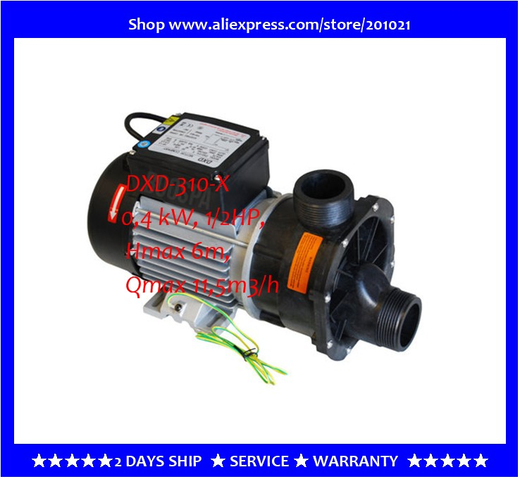 Aliexpress.com : Buy DXD Motor Company 310 X Bathtub Pump DXD 310X DXD 310  X, 0,4 KW, 1/2HP, Hmax 6m, Qmax 11,5m3/h As Hot Tub Spa Circulation Pump  From ...