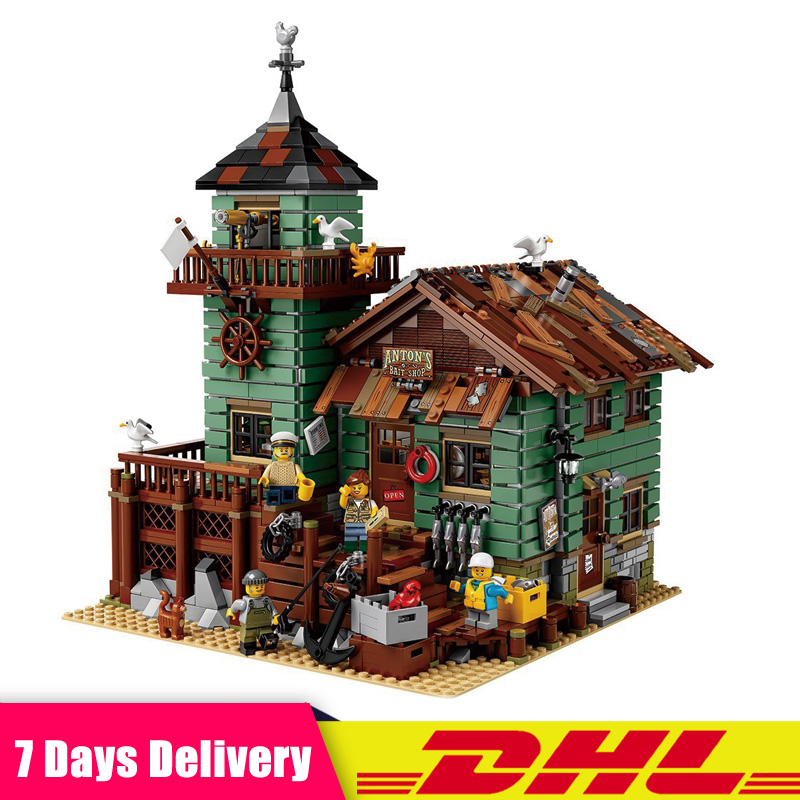 цена на The Old Finishing Store Model Building Blocks Bricks Modular Set Toys Compatible LegoINGlys 21310 IN Stock