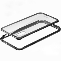 Metal Bumper For Apple IPhone X 10 Case Transparent Clear Ultra Thin Glass Cover IPhoneX Shell