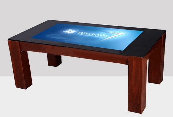 "Smart 4K Display Industrial Pc Interactive Waterproof 43"" 1080P Android Touch Screen Coffee Desk Table"