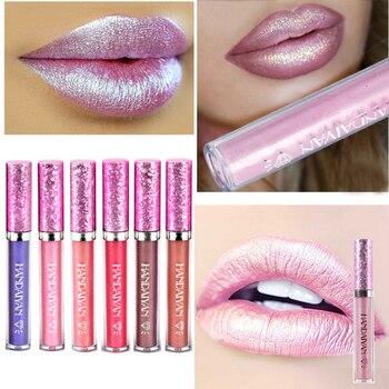 New Sparkling Liquid Lipstick Lipgloss Pomade For Women - Long Lasting Beauty Glitter - Diamond Lip Gloss - Tint Makeup Lip Stain