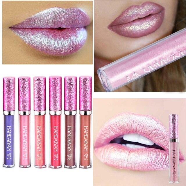 Nueva pomada de brillo de labios líquido brillante para mujeres belleza de larga duración brillantina brillo de labios Glosses tinte maquillaje de labios