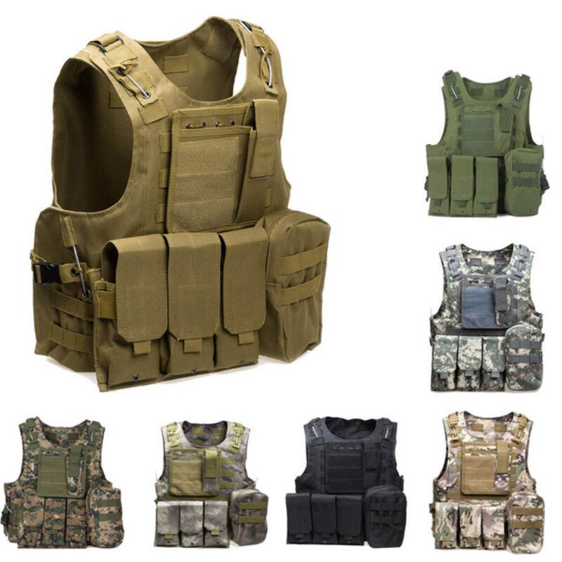 USMC Airsoft Military Tactical Vest Molle Combat Assault Plate Carrier Tactical Vest CS Outdoor HuntingVestProtective Clothing