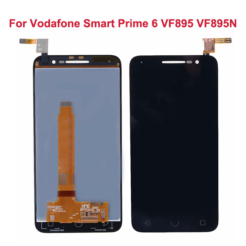 ФОТО LCD Display For Vodafone Smart Prime 6 VF895 VF895N+Touch Screen Front Glass Digitizer Panel Sensor Lens Replacement
