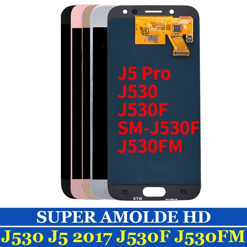 YDIN J530F Lcd AMOLED Pour SAMSUNG GALAXY J5 2017 J5 pro SM-J530F J530 LCD Affichage à L'écran Tactile Digitizer Assemblée Remplacement
