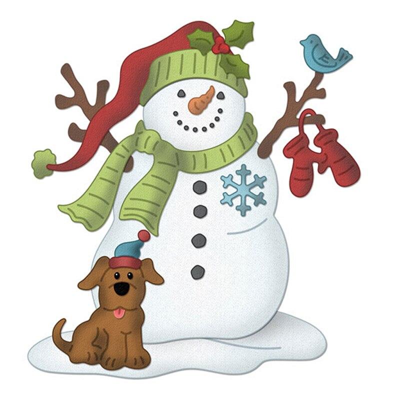 скрап картинка снеговик первым