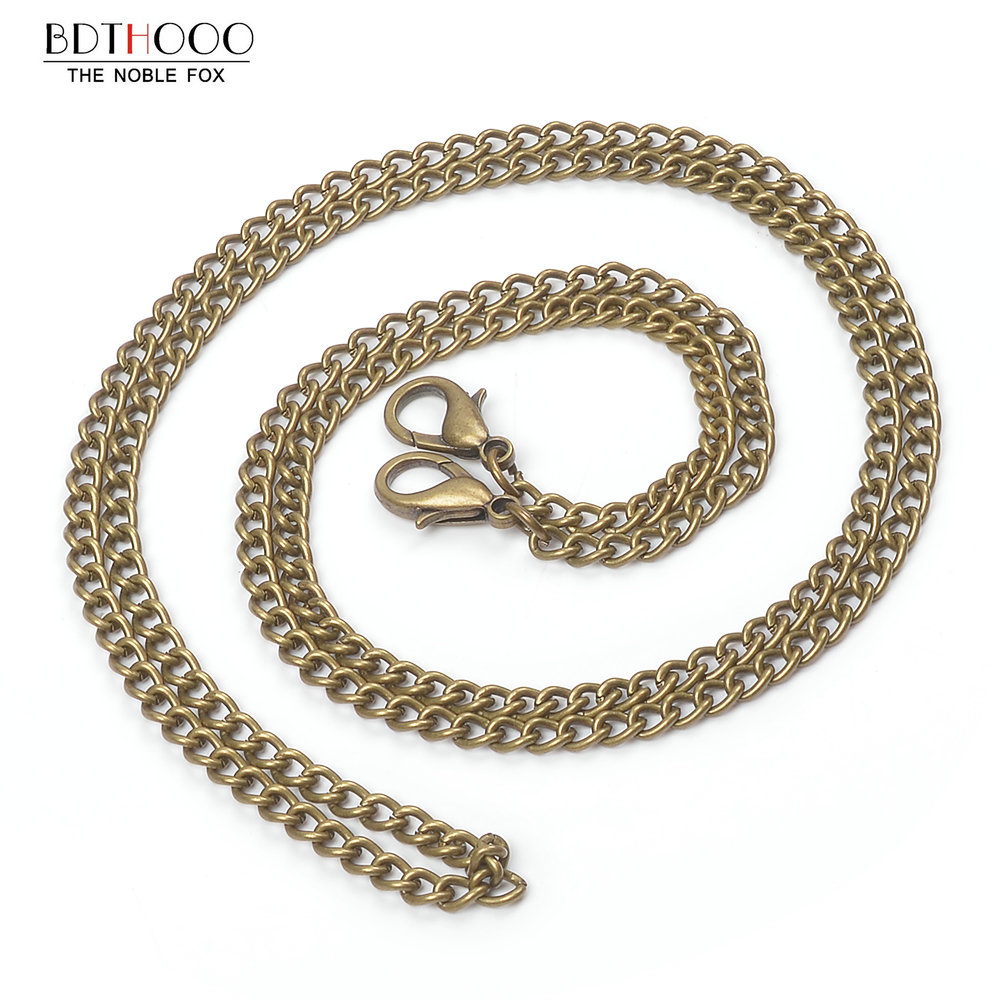 10pcs/set 120cm Replacement Metal Chain For Shoulder Bags Crossbody Handbag Antique Bronze Handle Bag Strap Accessories Hardware