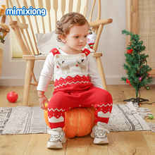 Baby Rompers Christmas Jumpsuits Knitted Newborn Bebes Onesie 0-24Months