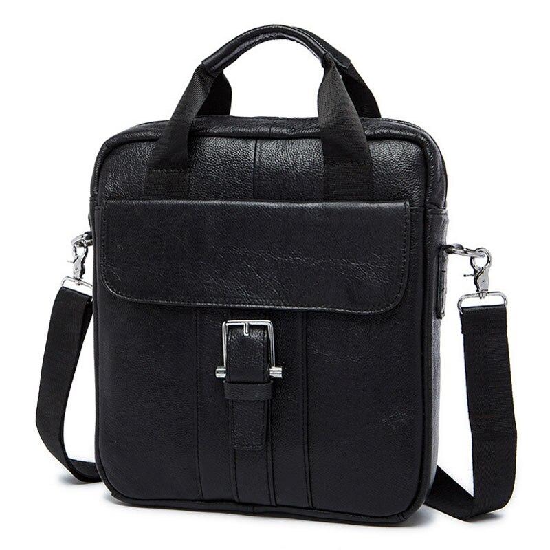 Men Genuine Leather First Layer Cowhide Handbag Retro Business Crossbody Shoulder Bag Cigarette Case Cell Phone Pocket Handbags