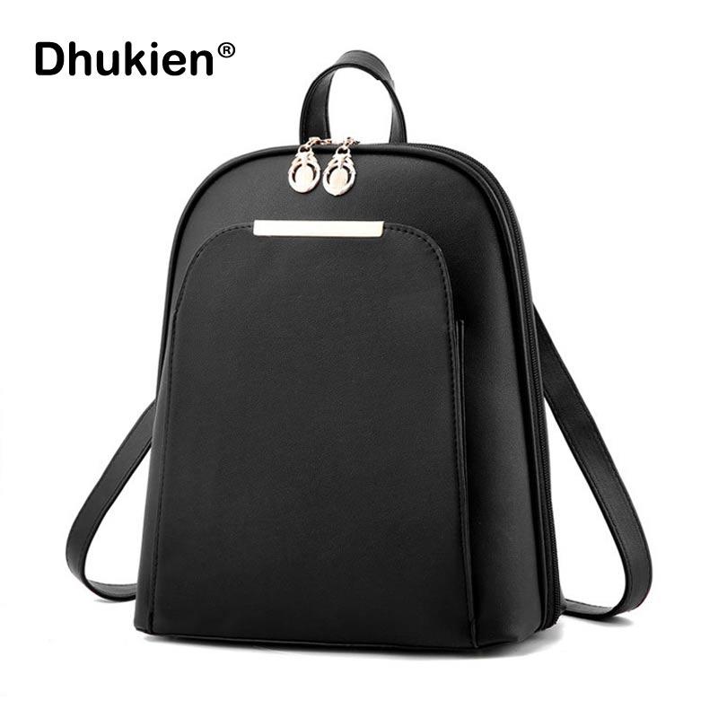Female Backpack Fashionable Pu Leather School Bags for Teenage Girls Sac A Dos Femme Women Casual Back Pack Mochila Feminina