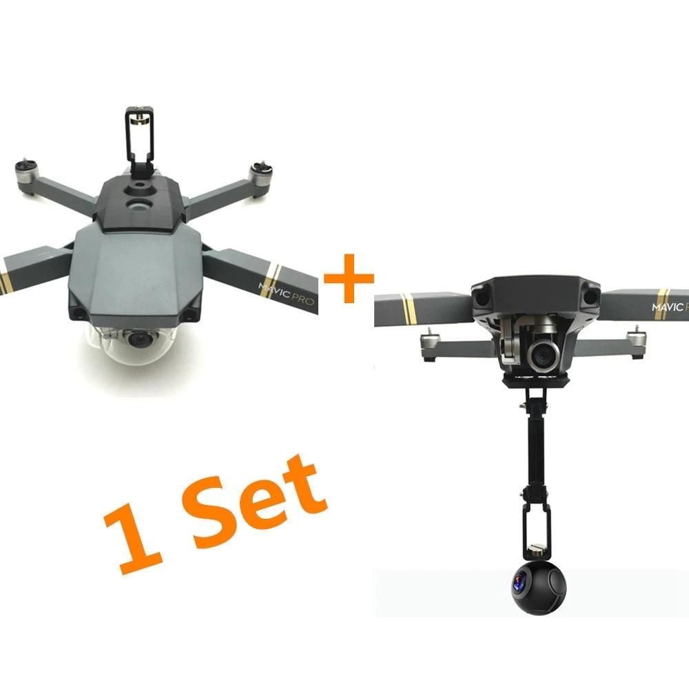 Mavic Pro Bracket For Gopro Hero 6 5 4 3 Action Insta360 Camera 360 Degree Mount Bracket Holder Support For Dji Mavic Pro Drone Accessories Kits Aliexpress