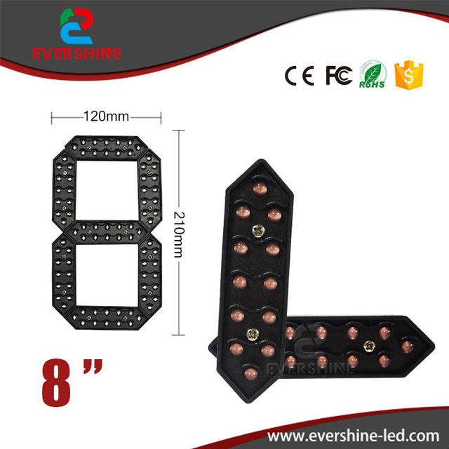 "8"" red 7 Segment Of The Modules Digita Numbers,led Signs Outdoor Waterproof Module,led Gas Price,led Oil Price"