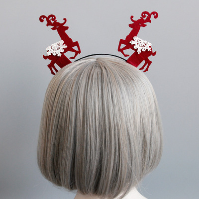 MIARA L Christmas decoration fabric antler snowflake hair clasps dressed up headwear gifts jewelry for wholesale in Women 39 s Hair Accessories from Apparel Accessories