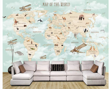 beibehang Custom fashion three-dimensional modern personality silk cloth papel de parede wallpaper simple world map background