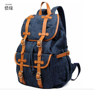 XIYUAN Man's Canvas Backpack Travel Schoolbag Male Backpack Men Large Capacity Rucksack Shoulder School Bag Mochila Escolar GIFT piergitar new style leopard pattern special fabrics handmade men loafers fashion men casual shoes british style smoking slipper