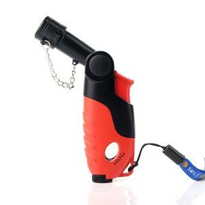 Image 1 - Outdoor 1300 C Butane Jet Lighter Torch Turbo Lighter Cigarette Accessories Gas Rotatable Lighter Windproof Metal